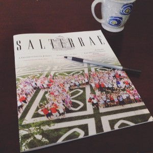 Latest issue of Trinity College's publication, Salterrae.