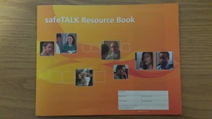 The Resource Book contains the course information, plus additional readings about suicide prevention policies, healing after a suicide has happened, and mental health.