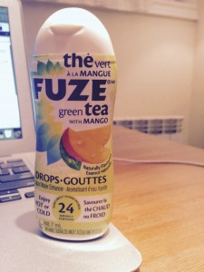 A photo of Fuze, Green tea with mango water enhancer.