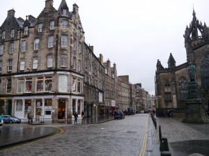 Possibly the most heavily touristed corner in Edinburgh (on days when it isn't pouring with rain).