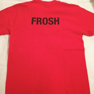 The Trinity College red Frosh t-shirt
