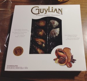 A box of Guylian chocolate.