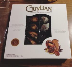 A box of Guylian chocolate.