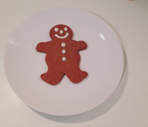 A gingerbread man.