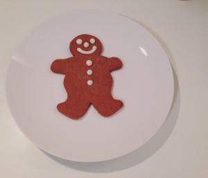 A gingerbread man.