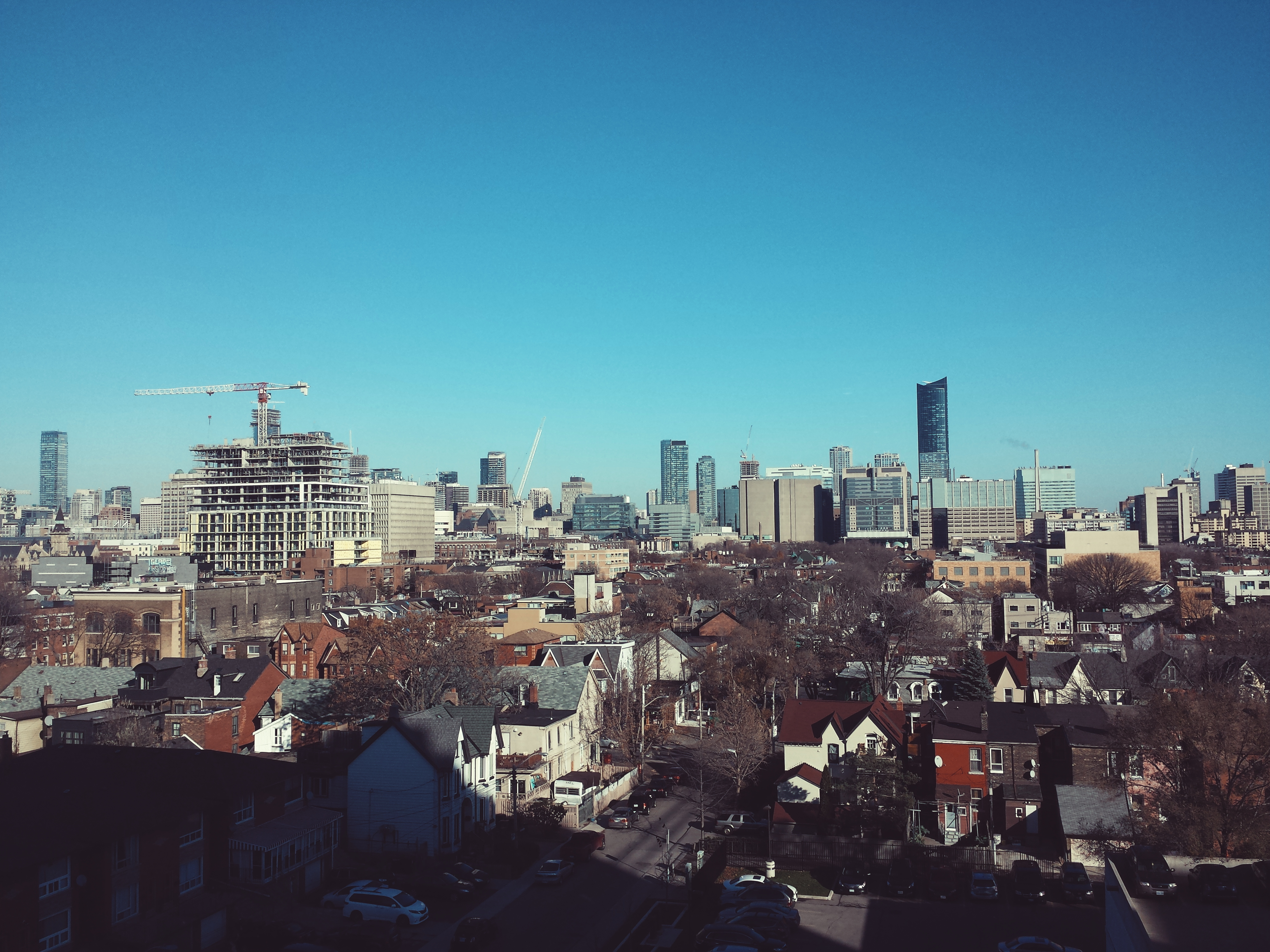 A panaroma of the city as seen from Toronto Western.