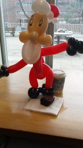 Complete with a brownie from the Hart House Crew, coffee courtesy of Second Cup, and a new study buddy, courtesy of the most talented balloon artist I have ever encountered!