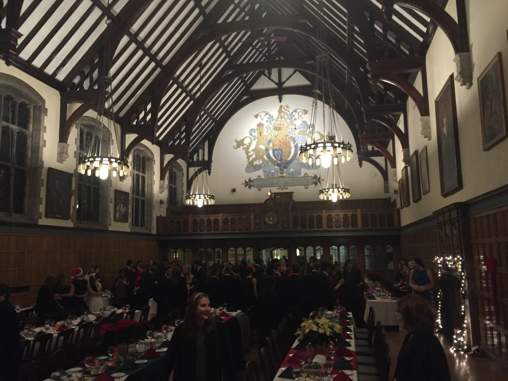 Pictured: Strachan Hall filled with Christmas High Table goers
