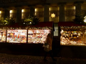 Edinburgh doing the holidays well: one of many Christmas Markets