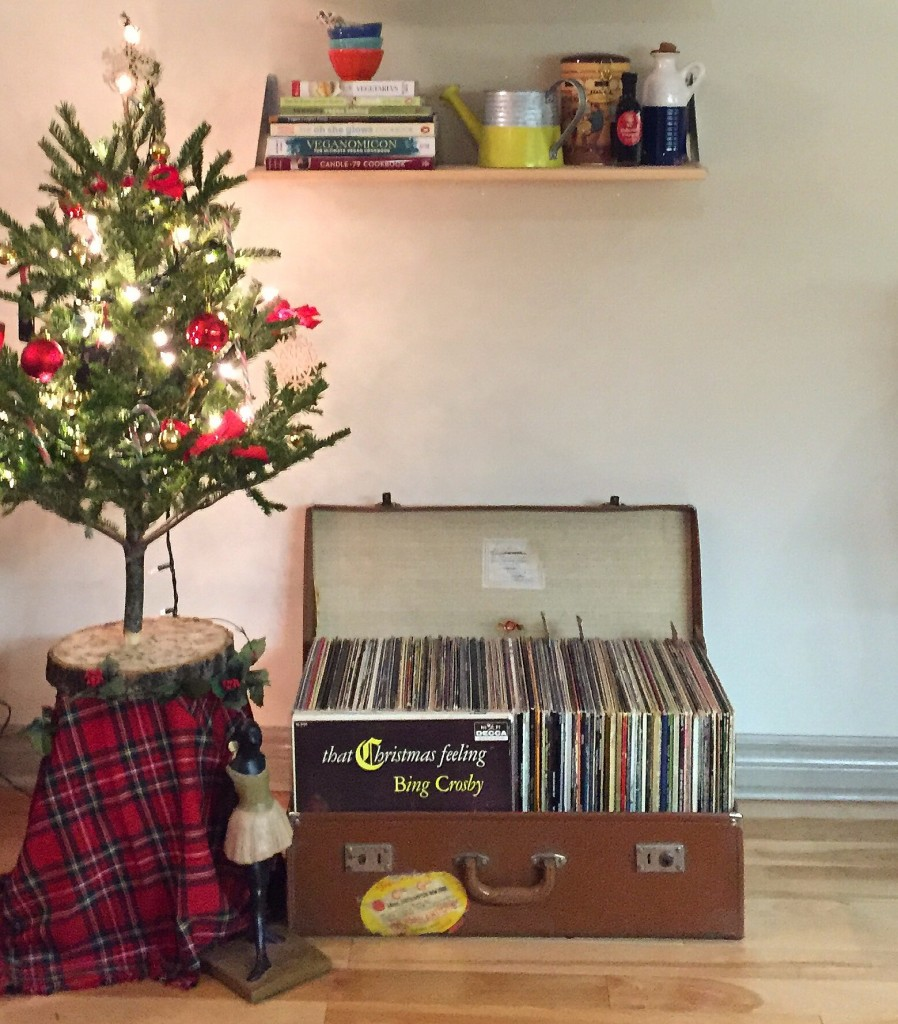 Pictured: My Christmas tree and some Christmas records