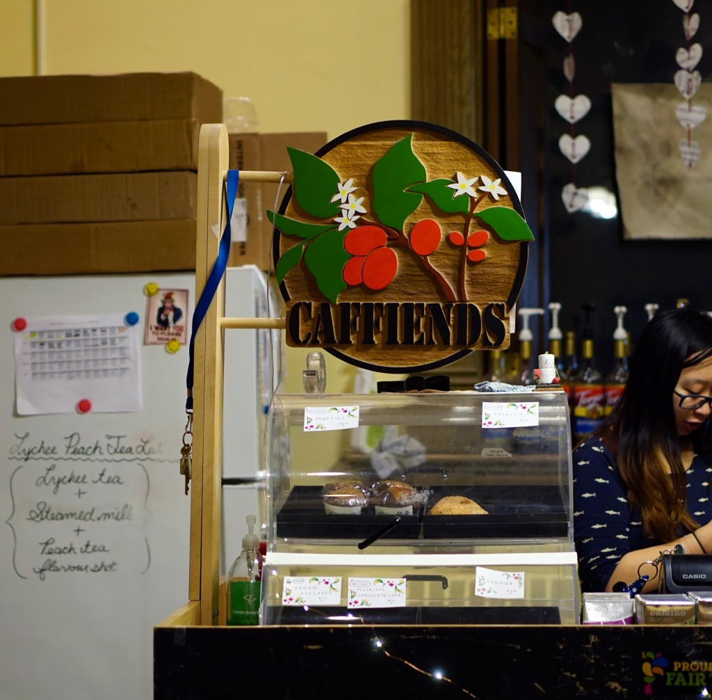 photo of the counter at caffiends