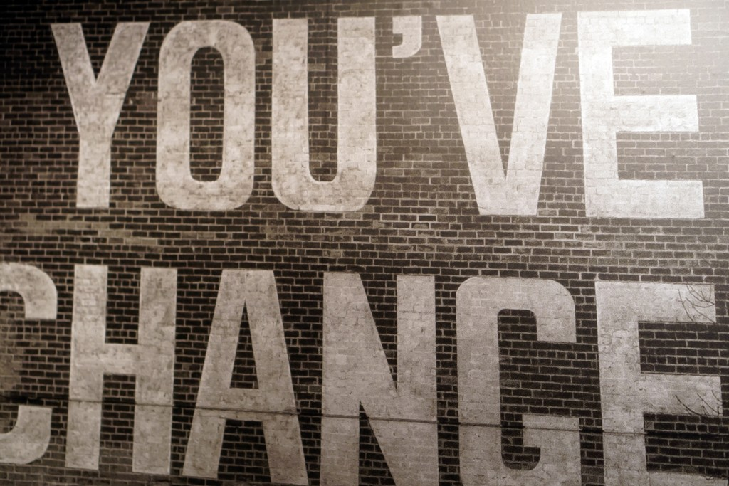 "photo of the ""you've changed"" mural on the wall of CAMH"