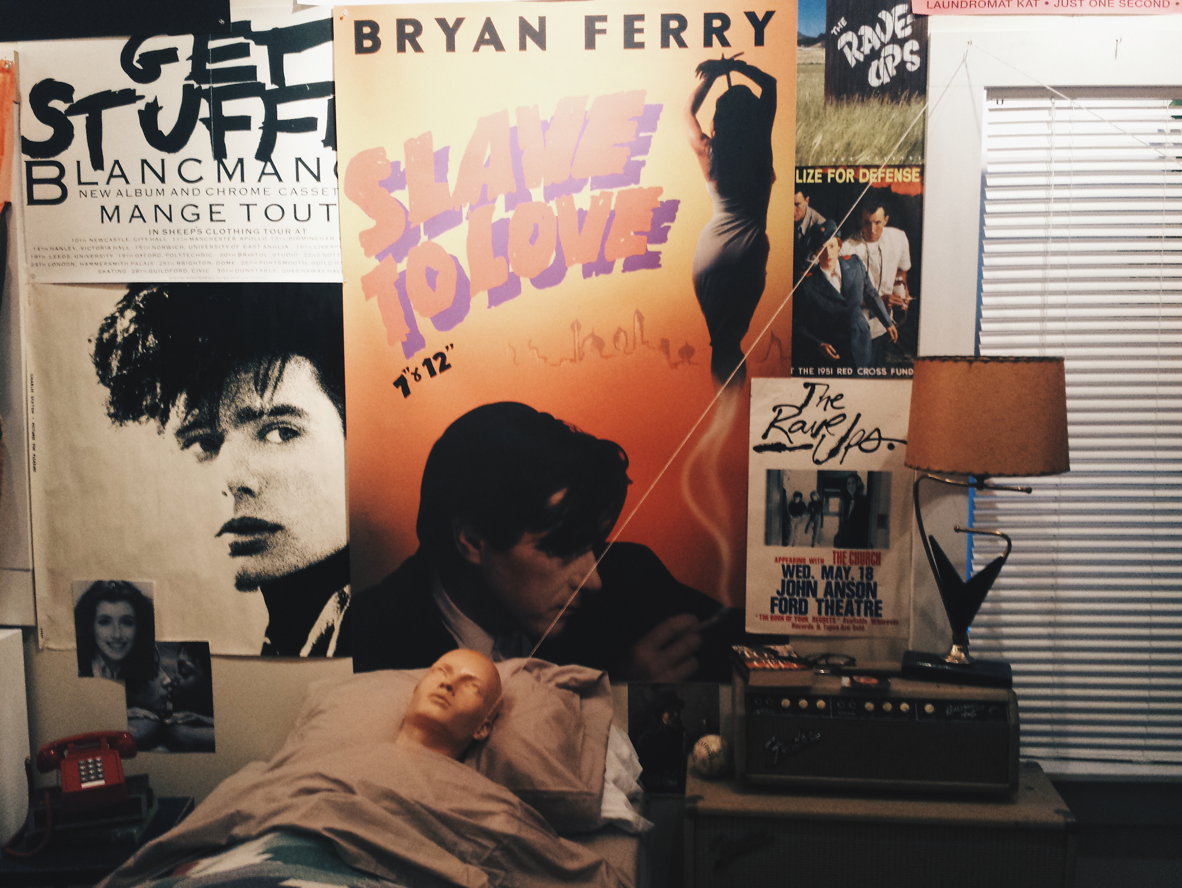A replica of Ferris Bueller's room including the dummy he uses in his room and posters on his wall