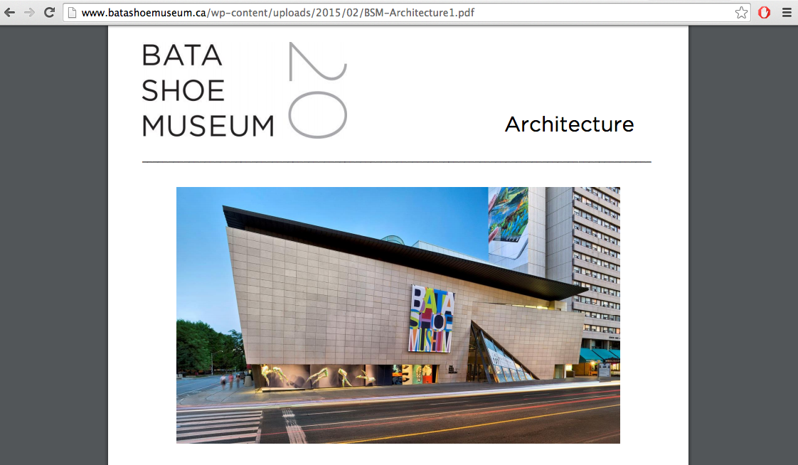 photo from the Bata Shoe Museum website.