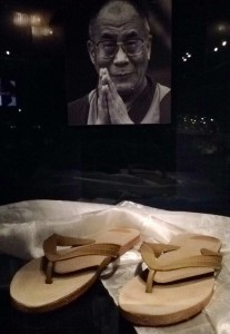 The sandals of the Dalai Lama