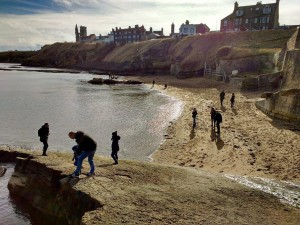 St Andrews students on the beach (i.e. what I assume everyday life in idyllic St Andrews is like)