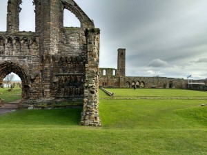 Beautiful church ruins in downtown St Andrews