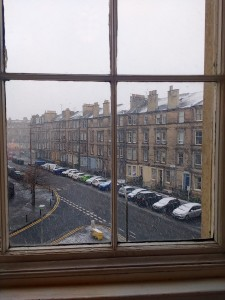 Even across the pond in Edinburgh, snowy winter managed to find me.