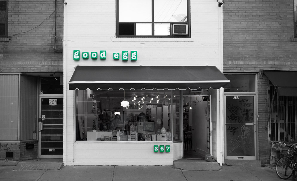 A photo of the Good Egg storefront.