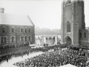 The completed Soldier's Tower memorial building in June 1924. source: http://heritage.utoronto.ca/chronology