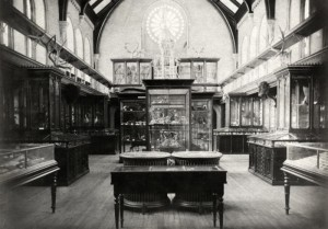 The university had a small museum located in what is now West Hall, University College back in the late 1880s. If this looks familiar, you've probably written an exam in the Hall at some point! Photo Source: http://heritage.utoronto.ca/chronology