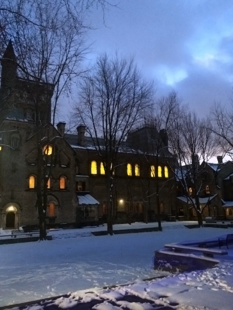 Blah, winter. Just kidding UC is beautiful in the snow.