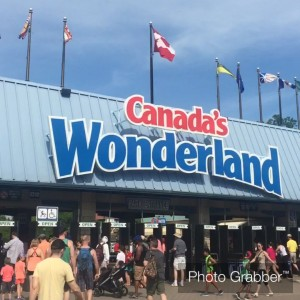 A photo of Canada's Wonderland entrance gate