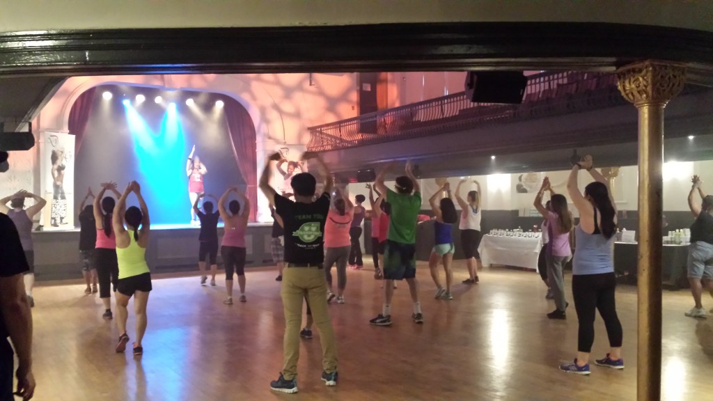 Photo of the Floor on Fire II dance fitness event in Toronto.