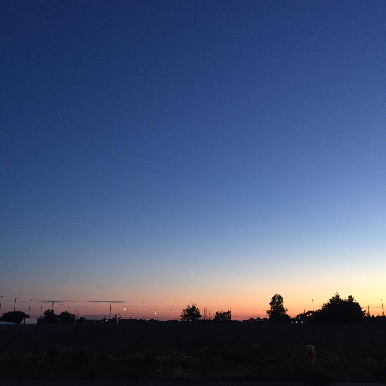 A summer sunset view