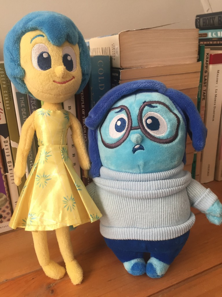 """Inside Out"" plushies: Joy and Sadness"