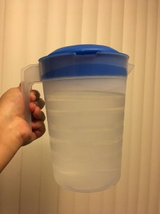 Picture of my 2L pitcher of water