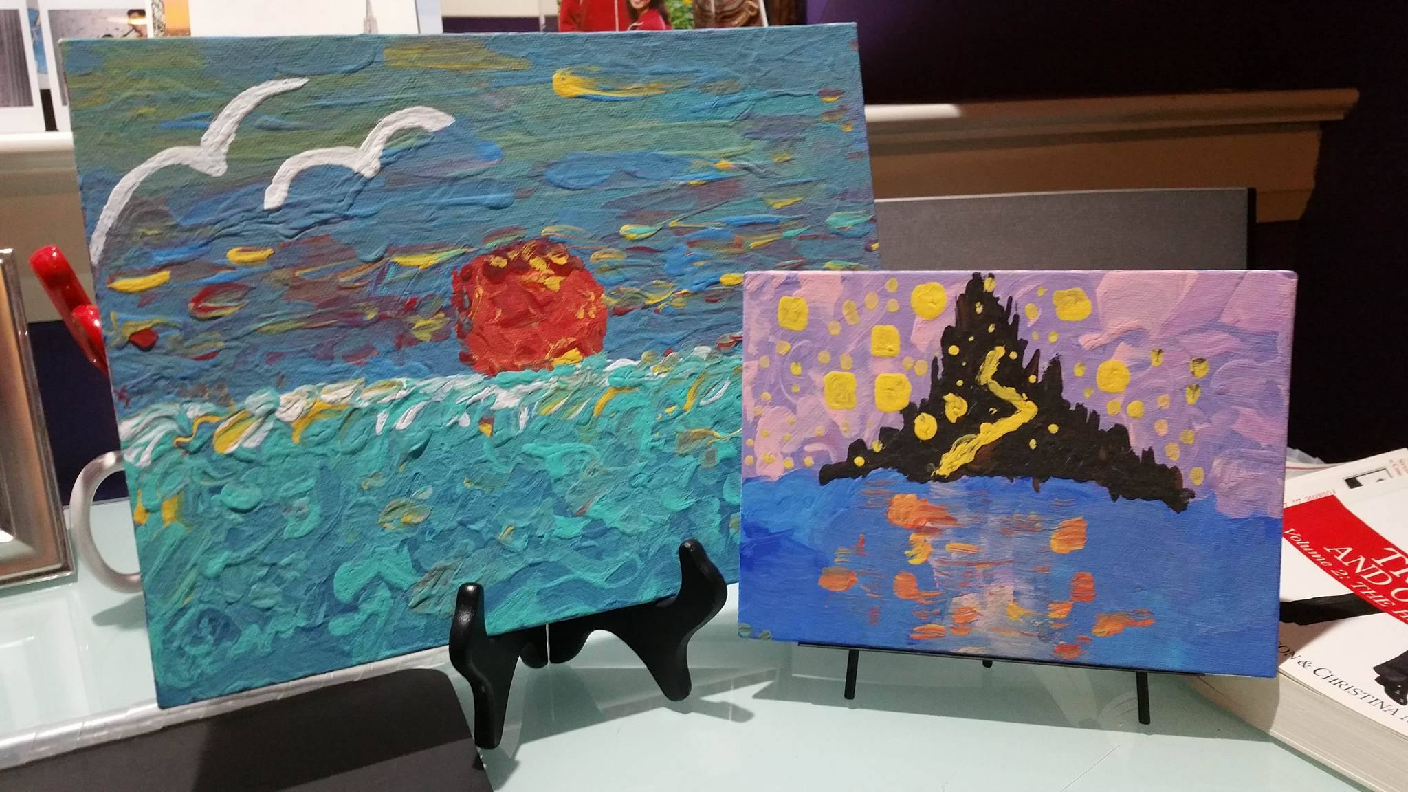 Two of my paintings