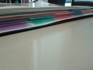 Picture of binder with dividers for each subject