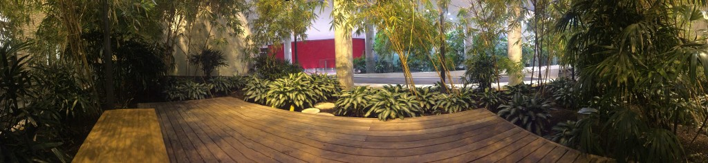 Panorama of one part of the Bamboo Garden