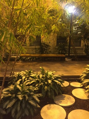 Donnelly Centre bamboo garden, one of the enclaves