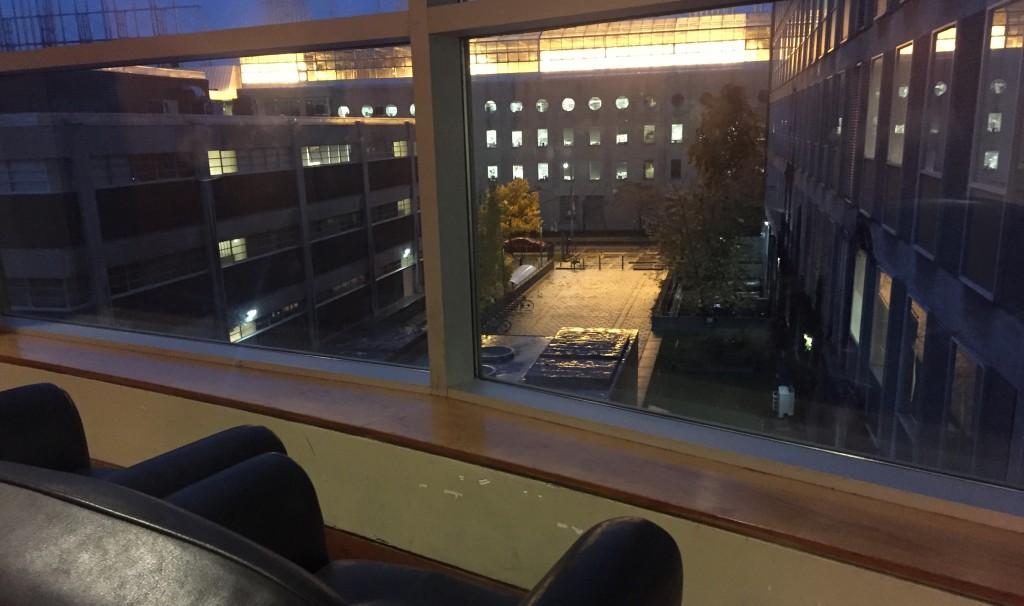 Davenport Atrium, sofas by the window