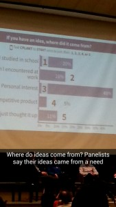Picture of poll showing where audience gets their ideas from