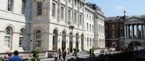 The Strand Campus at King's College of London is home to the Art's and Humanities Faculty and located in Central London.  (taken from: http://www.kcl.ac.uk/study/campus/strand.aspx)