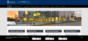 Screenshot of the Career Learning Network website