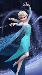 "An image of Elsa from the movie ""Frozen""."