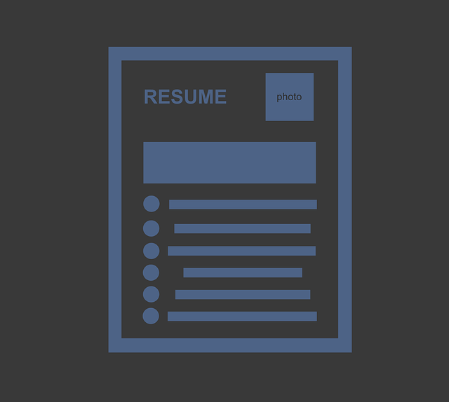 A crude illustration of a resume