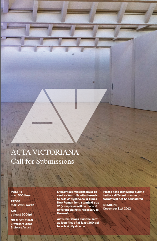 Acta Victoriana Call for Submissions