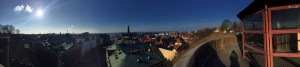 The view from the old tower gate in Helsingborg
