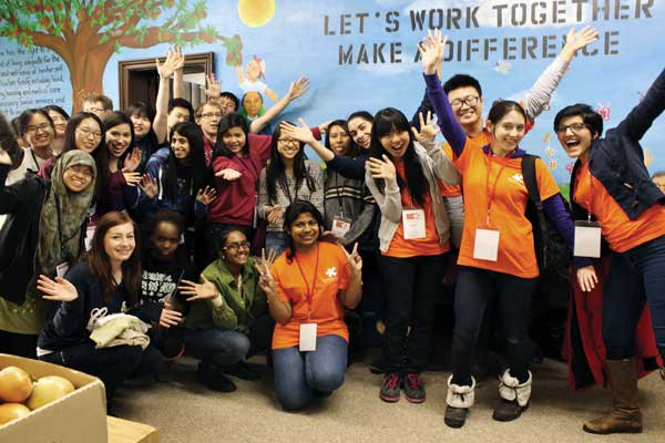 Group of CCP volunteers