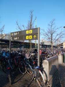 Bike theft is also an issue for commuters; many people live in Lund but work in Malmö and leave their bikes at this bike lot next to central station.