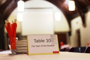Picture of place card setting