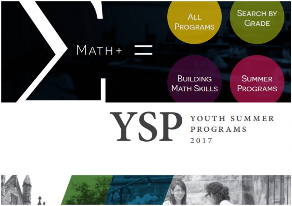Logos of example outreach programs at U of T: Math+, Youth Summer Program (Medicine)