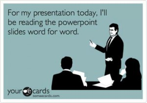 Picture of a man speaking about Power Point