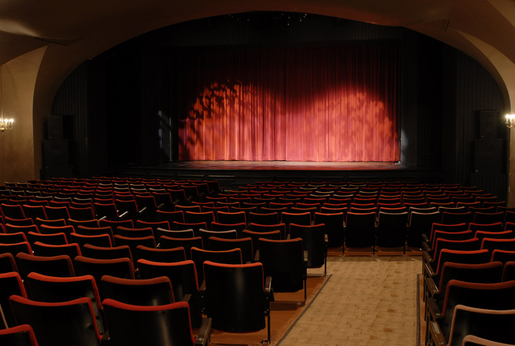 The auditorium of Hart House Theatre
