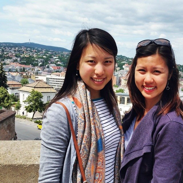 Linh and Julie in Brno